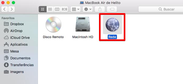 Acesse a rede do MacOS (Foto: Reprodução/Helito Bijora)