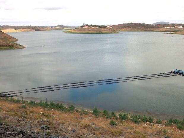 ANA libera uso da água do açude de Boqueirão, na Paraíba (Foto: Reprodulção/TV Paraíba)