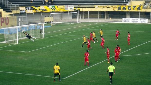 São Bernardo 0 x 1 Atlético Sorocaba (Foto: Divulgação/São Bernardo FC)