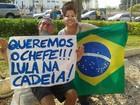 Manifestantes fazem ato pacífico contra o governo Dilma em Campos