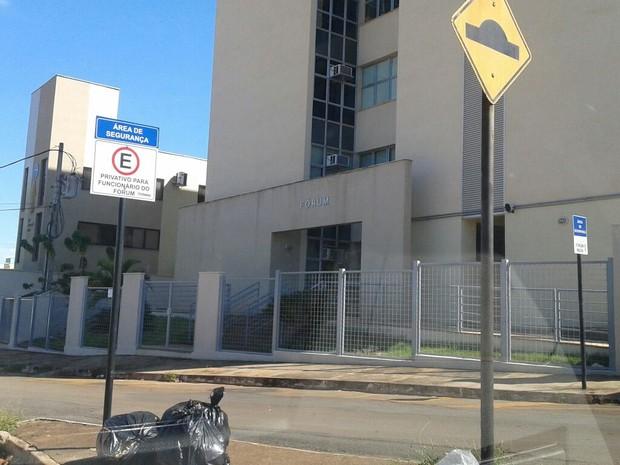 Forum de Unaí está em recesso forense (Foto: PMMG/Divulgação)