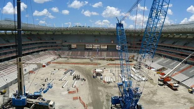 Obras Arena Pernambuco copa 2014 (Foto: Arena)