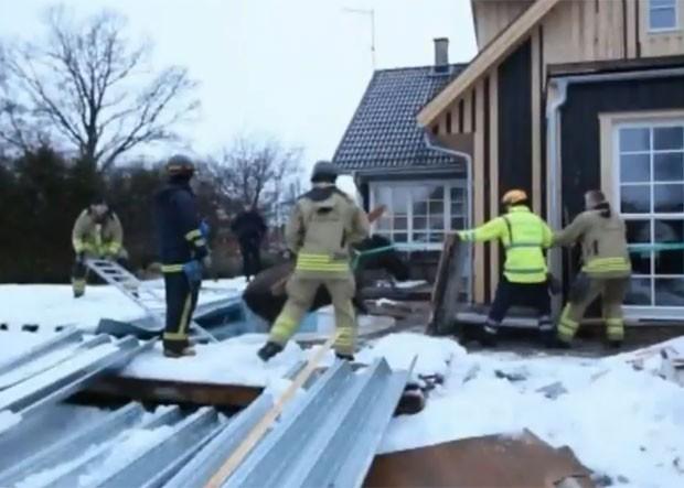 Incidente ocorreu perto da cidade de Linkoping, na Suécia (Foto: Reprodução)