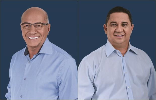 Candidato Professor Alcides (PSDB) e seu vice, Coronel Silvio (PP) (Foto: Divulgação)