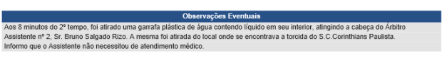 sumula corinthians portuguesa (Foto: Reprodução/Site oficial da CBF)