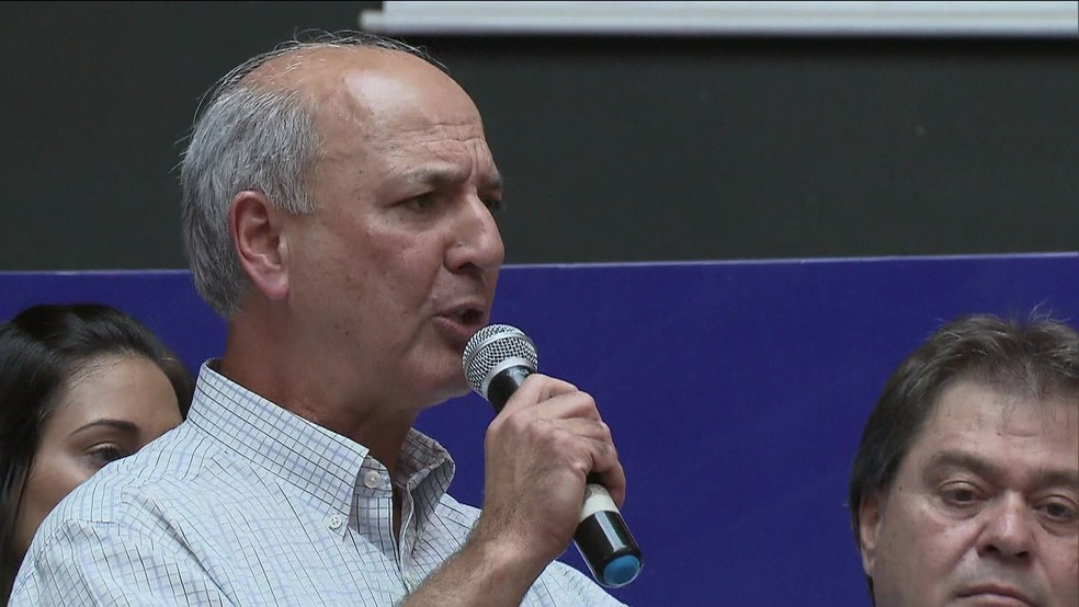 Ex-governador do Distrito Federal, José Roberto Arruda, em evento de campanha em 2014 (Foto: TV Globo/Reprodução)