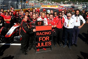 Max Chilton e Marussia homenagem a Jules Bianchi GP Russia (Foto: Getty Images)