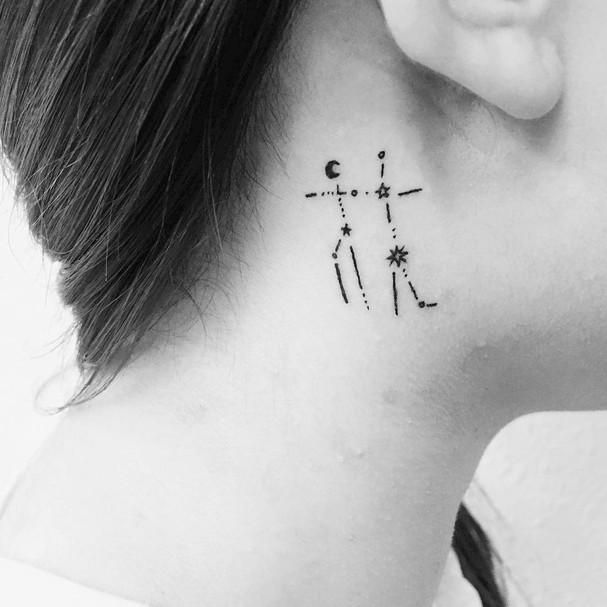 Gêmeos (Foto: Reprodução/ Instagram @roda.tattooer)