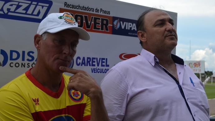 Márcio Bittencourt técnico do Vilhena-RO (Foto: Dennis Weber)