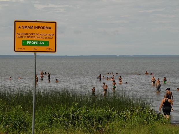 Praia do Lami Belém Novo Porto Alegre (Foto:  Ricardo Stricher/Divulgação PMPA)