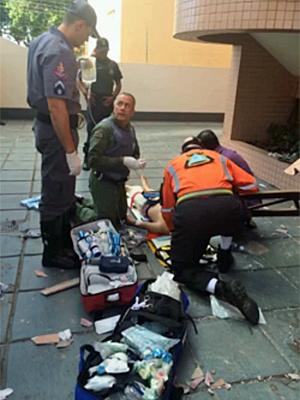 Menino sobrevive ao cair do 10º andar em Campinas (Foto: EPTV)