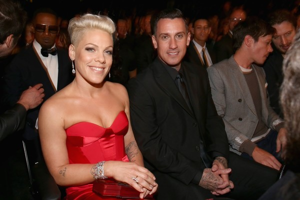 Pink e o marido Carey Hart (Foto: Getty Images)