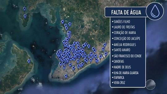 Fornecimento de água será suspenso em parte de Salvador e região