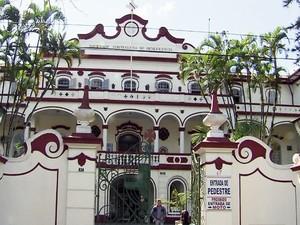 Complexo Hospitalar da Beneficência Portuguesa de Santos, SP (Foto: Reprodução/TV Tribuna)
