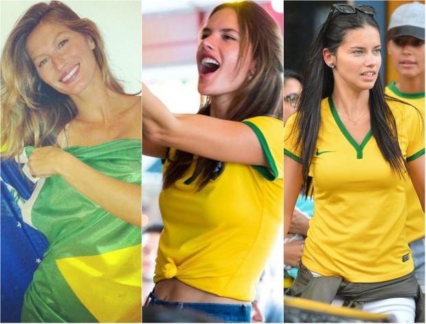 As modelos Gisele Bündchen, Alessandra Ambrósio e Adriana Lima vão participar da Olimpíada 2016, no Rio de Janeiro (Foto: Reprodução do Instagram)