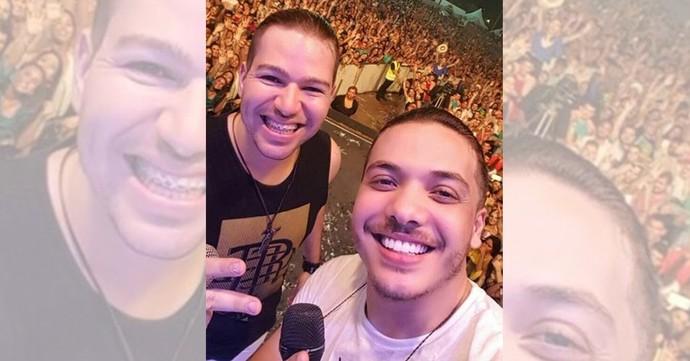 Filipe e Wesley em show juntos  (Foto: Divulgação / TV Gazeta ES)