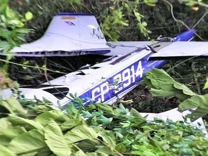 Aeronave foi abatida durante o voo no espaço aéreo peruano (Foto: Divulgação/Comando Conjunto de las Fuerzas Armadas del Perú)