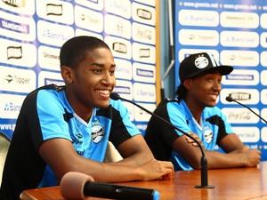 Irmãos Matheus (à esquerda) e Guilherme Biteco, Grêmio, Chapecoense (Foto: Lucas Uebel/Grêmio)