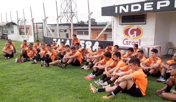 Independente de Limeira treino Pradão (Foto: Divulgação / Independente)