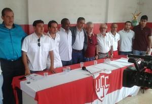 Uberaba Sport Club comissão técnica presidência 2014 (Foto: Alex Rocha/ GloboEsporte.com)