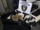 Denarc apreende fuzil e três pistolas em Mossoró, no Oeste potiguar