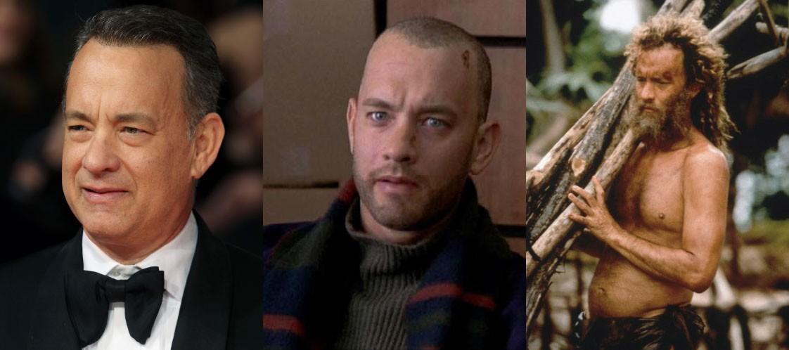 O ator mostrou versatilidade ao interpretar um personagem soro positivo em 1993 com o filme 'Filadélfia' – para este papel, Hanks perdeu 13 kg. Anos mais tarde, fez 'O Náufrago' (2000), produção em que teve que engordar e emagrecer mais de 22 kg, além de ter a barba e o cabelo compridos. (Foto: Getty Images/Reprodução)