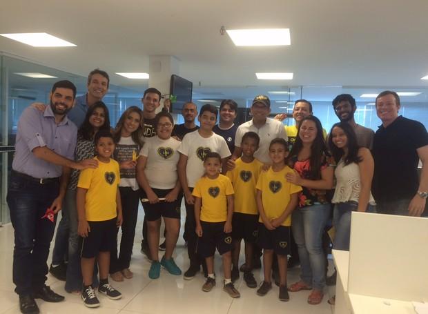 LBV visita Inter TV Cabugi na tarde desta sexta-feira (Foto: Divulgação/Inter TV Cabugi)