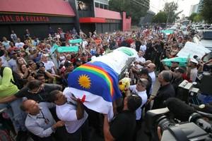 Velório Cléber Santana (Foto: Aldo Carneiro / Pernambuco Press)