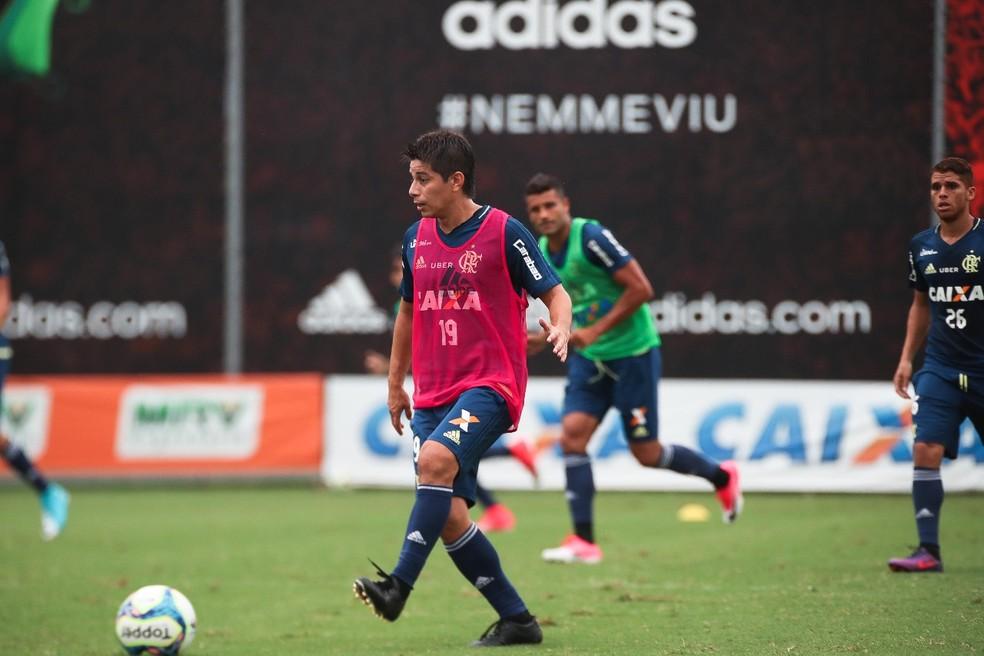 Conca disputará jogo-treino nesta segunda-feira (Foto: Gilvan de Souza/Flamengo)