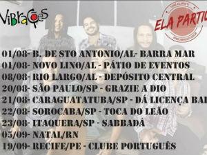 Agenda da nova turnê da banda Vibrações  (Foto: Divulgação/ Gshow)