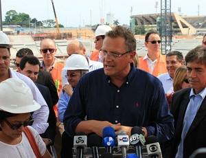 Jérôme Valcke, em Manaus (Foto: Silvio Lima/Globoesporte.com)