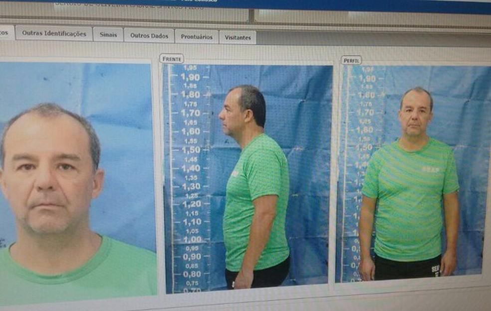 Cabral foi preso na quinta-feira (17) (Foto: Reprodução)