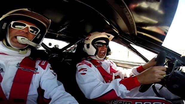 Bruno de Luca curte corrida VIP em Las Vegas (Foto: Multishow)