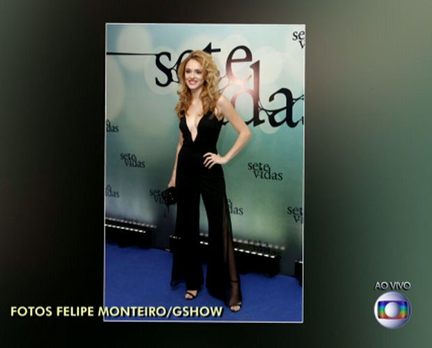 Isabelle arrasou com seu macacão (Foto: reprodução TV Globo)