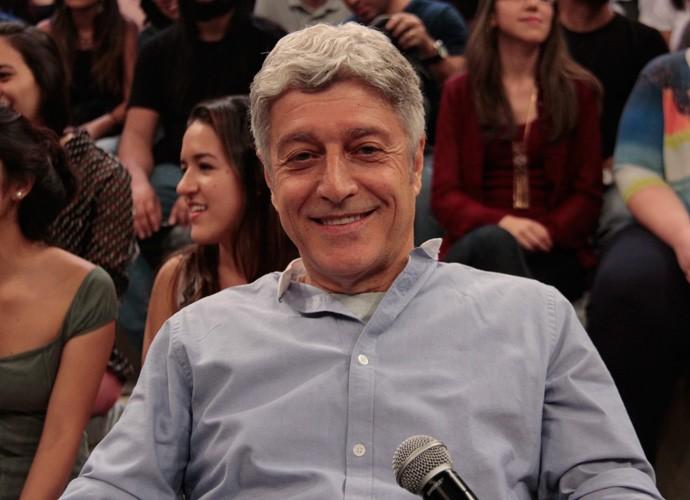 Caco Barcellos participa de gravação do programa Altas Horas (Foto: Marcos Mazini/Gshow)