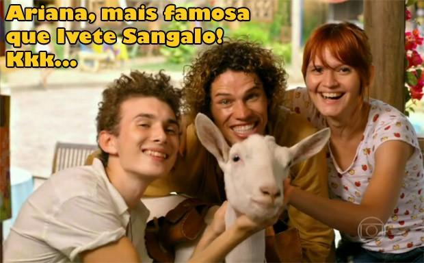 Ariana, mais famosa que Ivete Sangalo (Foto: Flor do Caribe / TV Globo)