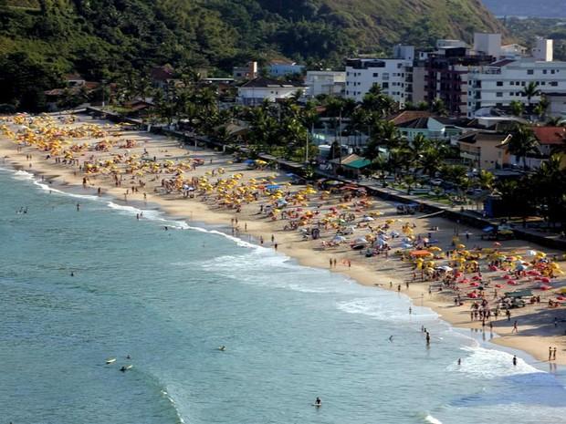 Praia do Tombo, em Guarujá, SP (Foto: Divulgação / Prefeitura de Guarujá)