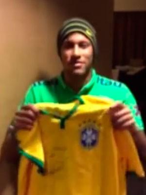 Neymar vídeo Campanha Theo (Foto: Reprodução)