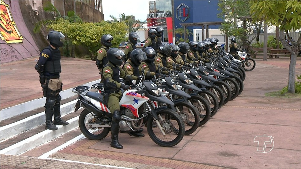 Policiais militares da Rocam receberam formação em táticas operacionais (Foto: Reprodução/TV Tapajós)