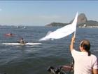 'SUPeata' e 'barqueata' no Rio pedem por despoluição de canal e Baía; vídeo