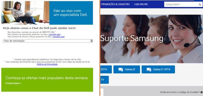 Dell e Samsung oferecem chat online e assistência técnica no Brasil (Foto: Reprodução/Barbara Mannara)