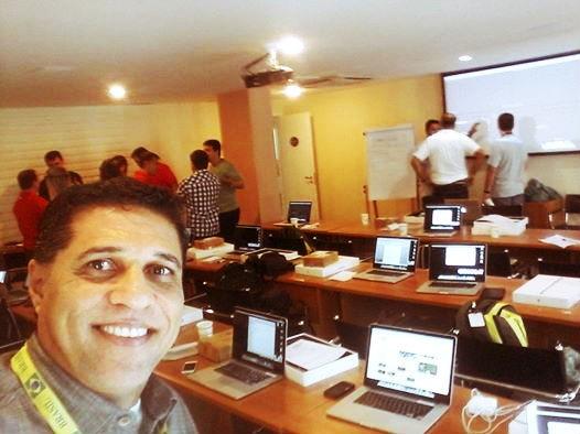 Jorge Félix no curso intensivo no SporTV (Foto: Arquivo pessoal)