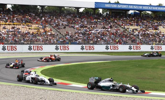 Nico Rosberg e Valtteri Bottas no GP da Alemanha (Foto: Getty Images)