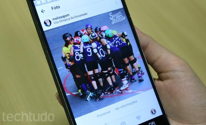 É possível promover posts direto da plataforma do Instagram no celular (Foto: Camila Peres / TechTudo)