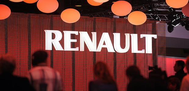 Logo da Renault no estande da marca no Salão de Paris (Foto: Getty Images)