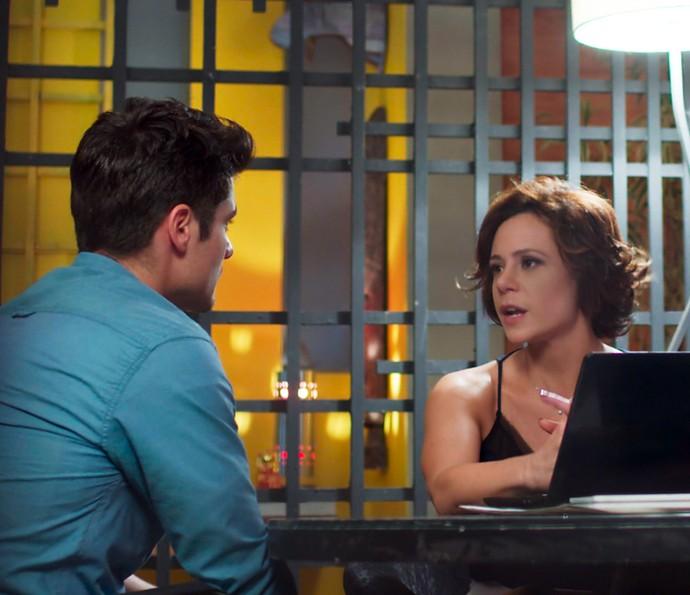 Ana dá os seus motivos para suspeitar de Samurai (Foto: TV Globo)