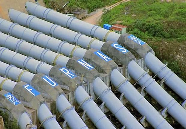 Usina hidrelétrica de Furnas ; Eletrobras ;  (Foto: Divulgação)