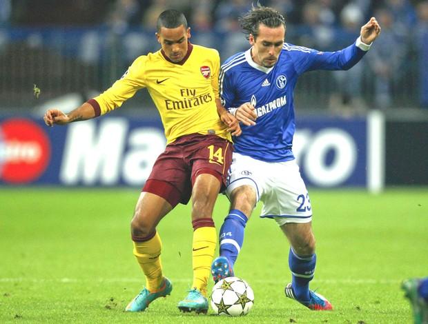 Schalke 04 e Arsenal (Foto: Agência Reuters)