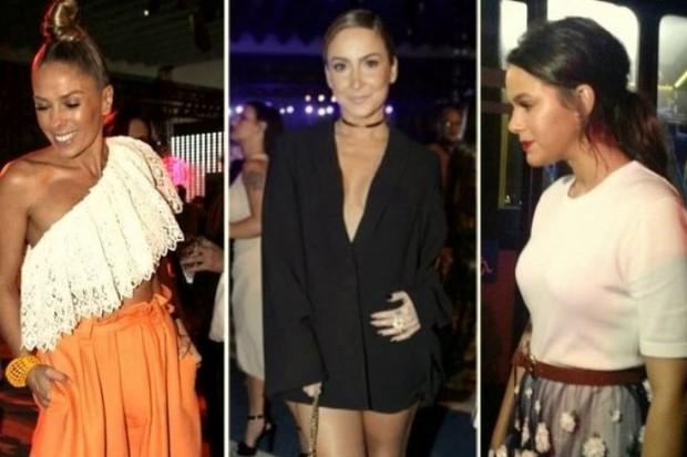 Adriane Galisteu, Claudia Leitte e Bruna Marquezine em evento de moda no Rio (Foto: Isac Luz/EGO)