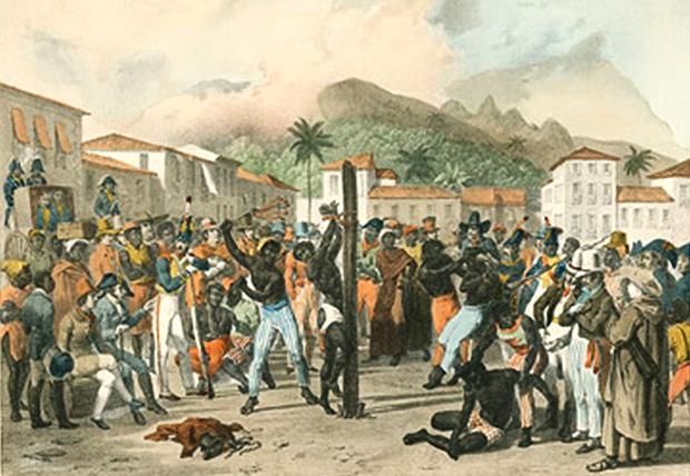 Pelourinho, em Salvador, lugar de castigo para o escravos (Foto: Reprodução)